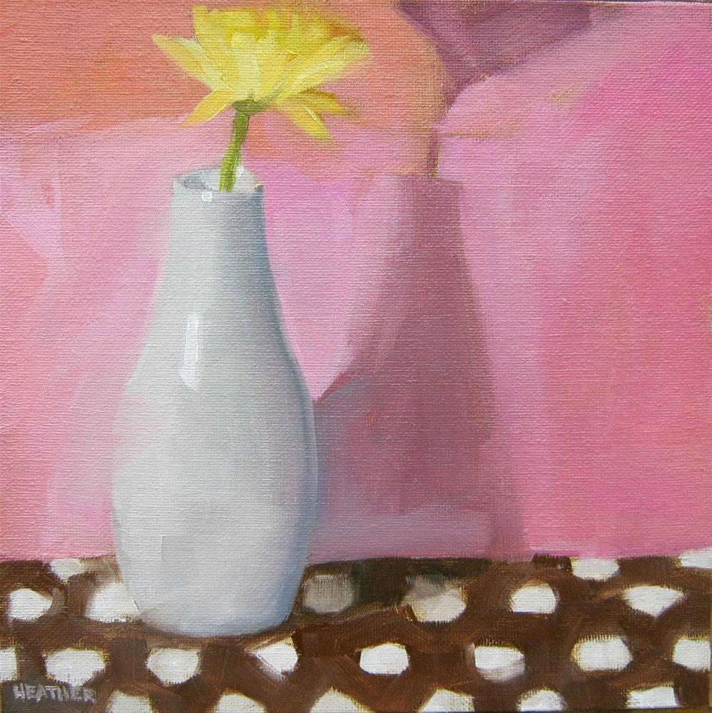 """Welcome Home - Polka-Dot Version"" original fine art by Heather Bennett"