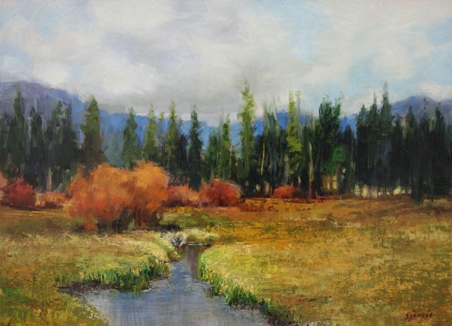 """""""Silver Lake Marsh"""" original fine art by Susan N Jarvis"""