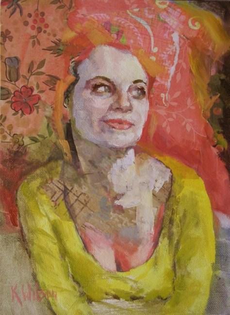 """""""Pink Plumage"""" original fine art by Katie Wilson"""