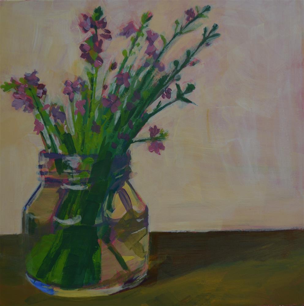 """purple wildflowers"" original fine art by Cindy McDonough"
