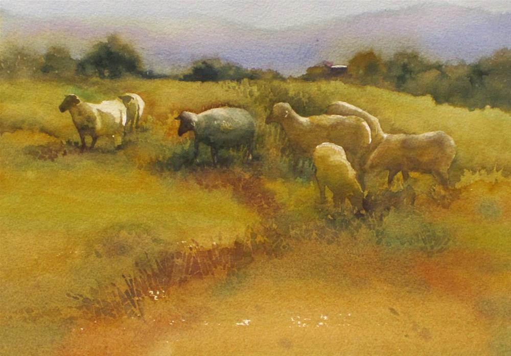 """""""Out to Feed"""" original fine art by Julie Crouch"""
