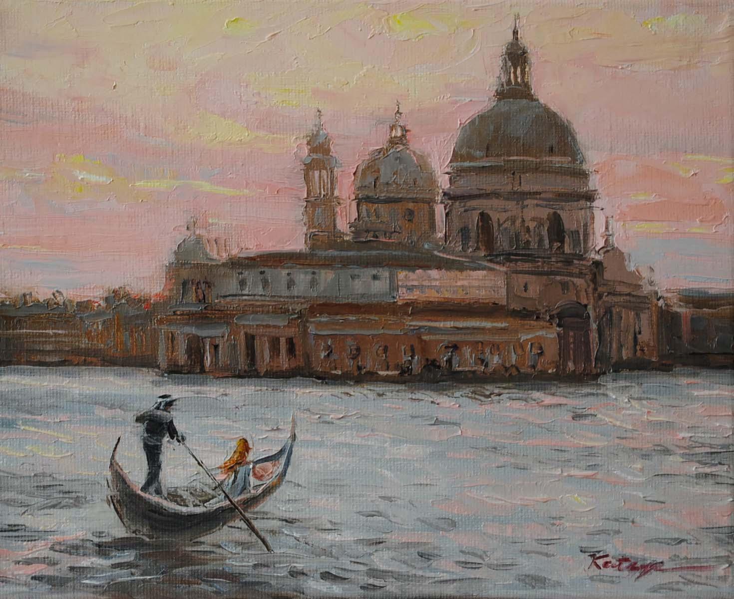 """Sunset Venice"" original fine art by Elena Katsyura"