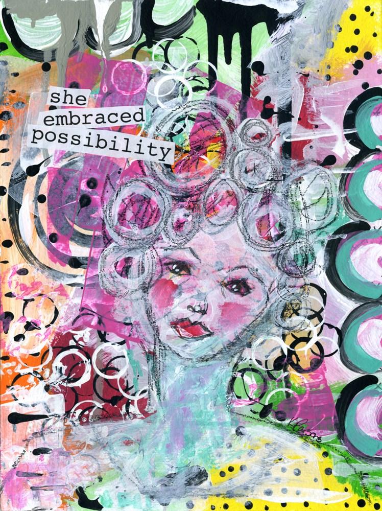 """She Embraced Possibility"" original fine art by Kali Parsons"