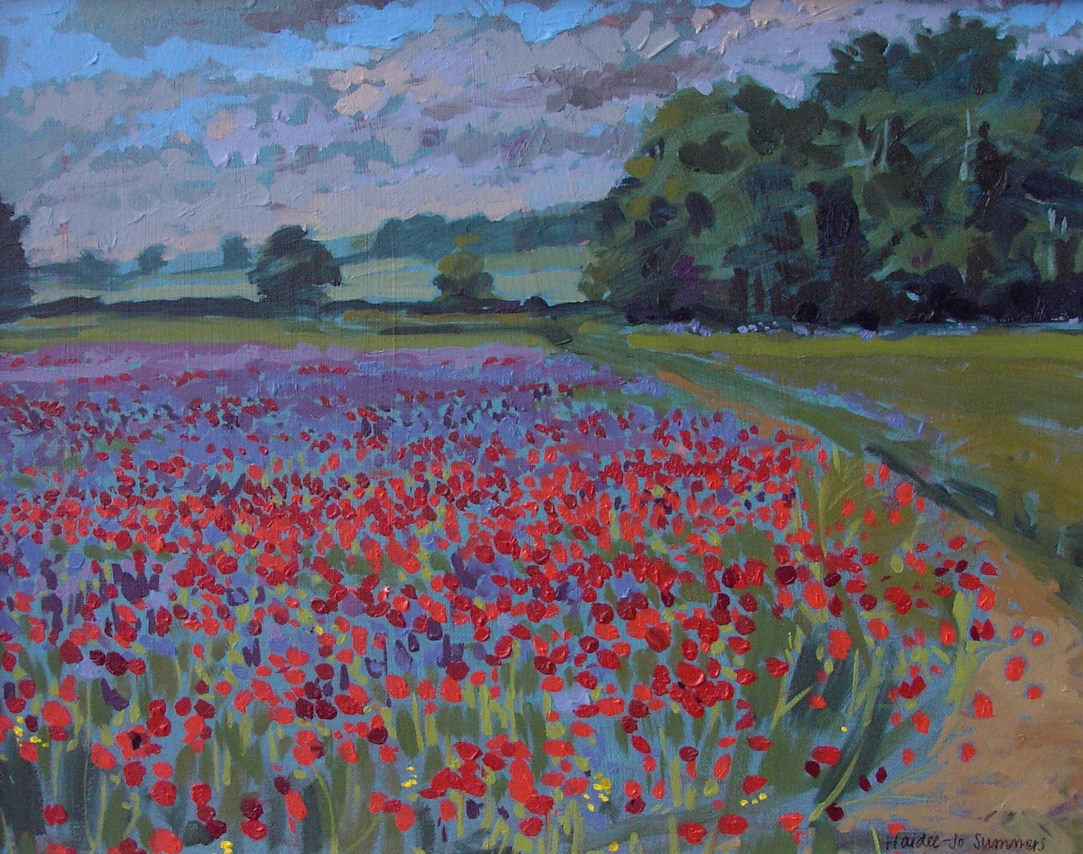 """Poppy field"" original fine art by Haidee-Jo Summers ROI"
