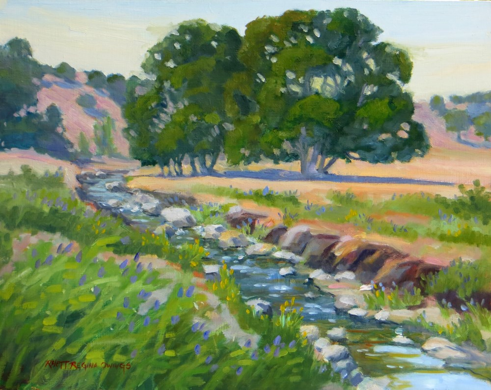 """Foothill Stream"" original fine art by Rhett Regina Owings"