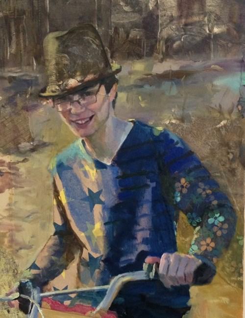 """Sporting"" original fine art by Katie Wilson"