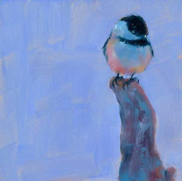 """Blue Chick"" original fine art by Brenda Ferguson"