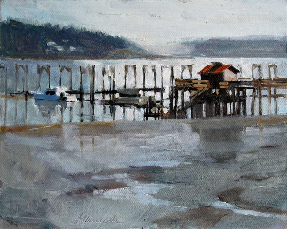 """Dockton Harbor"" original fine art by Gretchen Hancock"