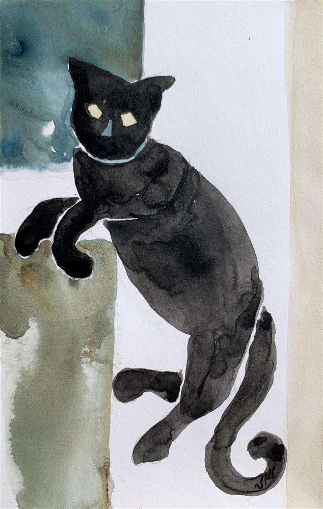 """Cat 6"" original fine art by Jean Krueger"