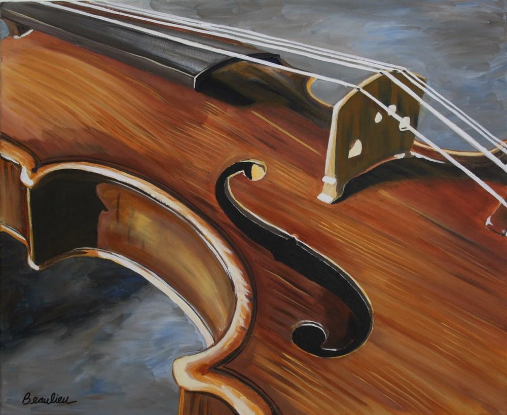 """Violin"" original fine art by Andre Beaulieu"