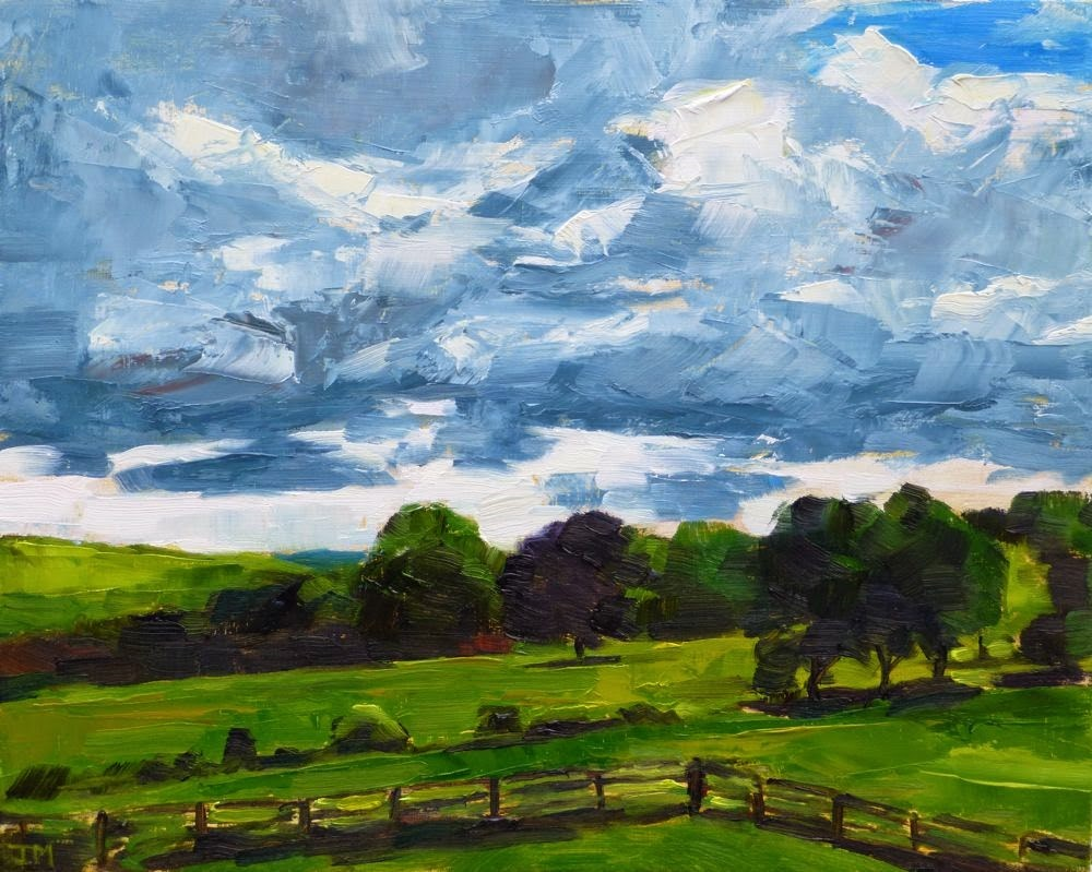 """Clouds Over Hemlock Hill"" original fine art by Jessica Miller"