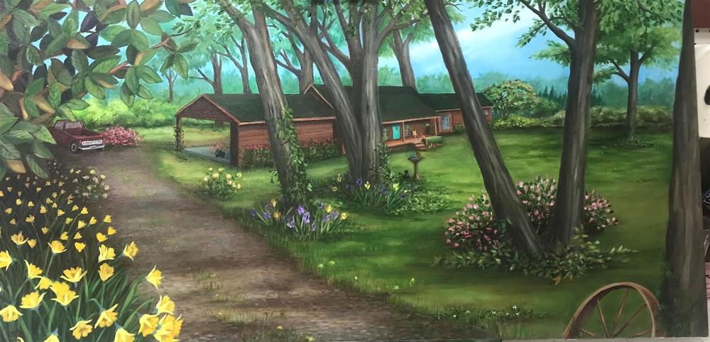 """Home"" original fine art by Joetta Currie"