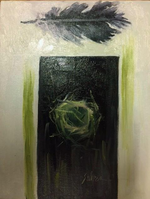 """""""Bird Nest, Day 7"""" original fine art by Connie Snipes"""
