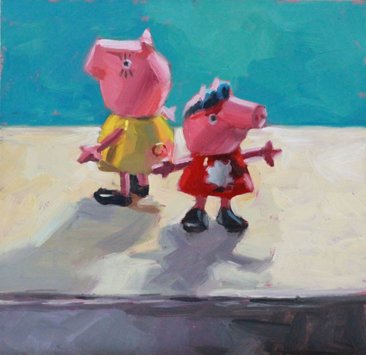 """Little Piggies"" original fine art by Nealy May Riley"