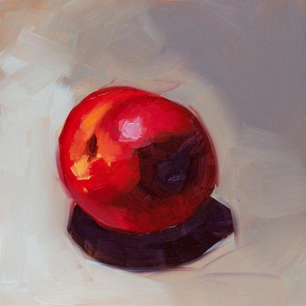 """""""Nectarine"""" original fine art by Heather Bullach"""
