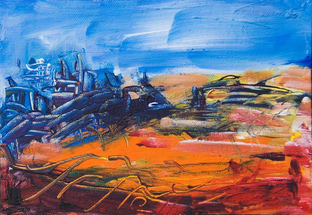 """Flora on Planet Zeldorph"" original fine art by Yulia Kazansky"