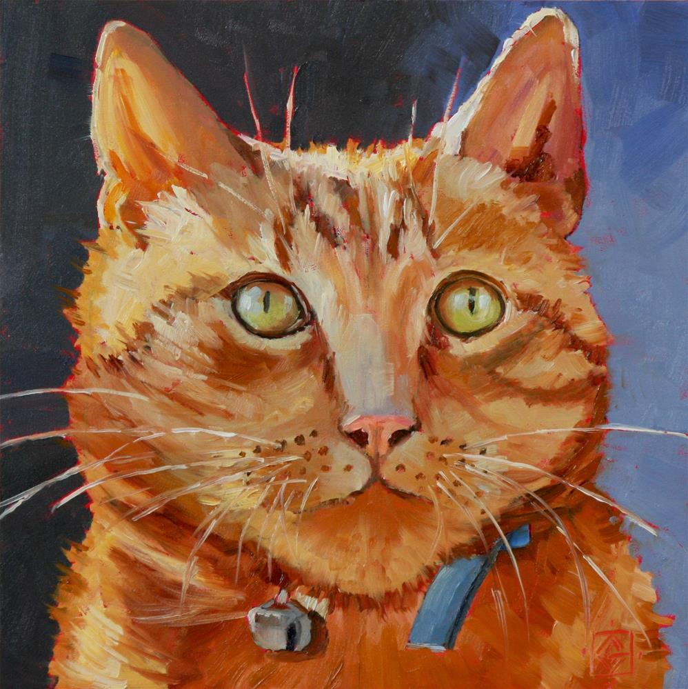 """M Cat #1"" original fine art by Carol Granger"