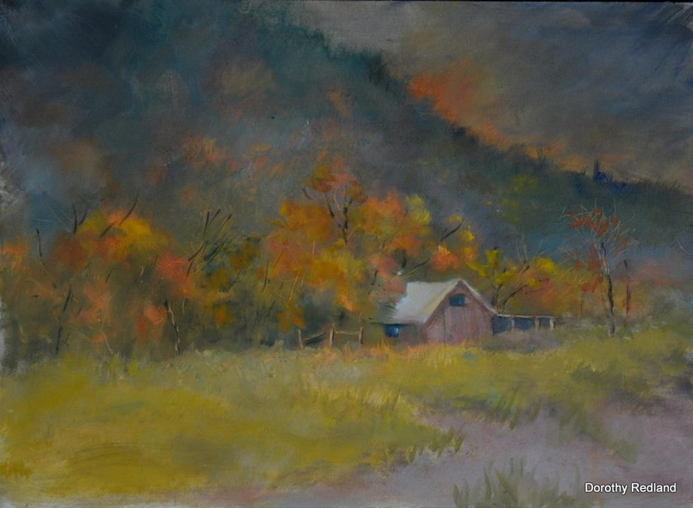 """Ranch in the hills"" original fine art by Dorothy Redland"