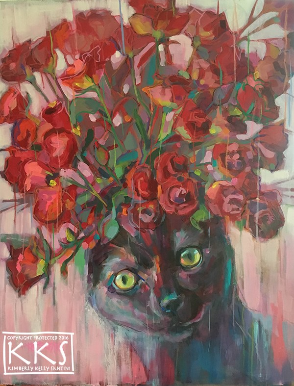 """Red Roses"" original fine art by Kimberly Santini"