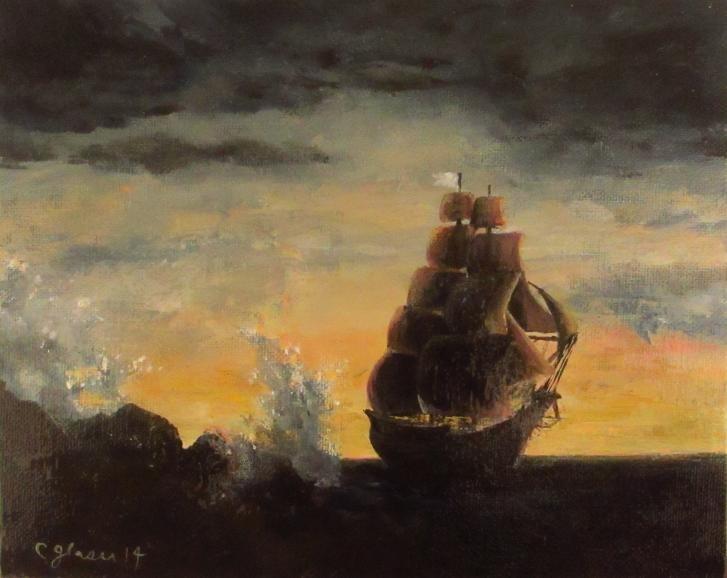 """By The Shoals"" original fine art by christina glaser"