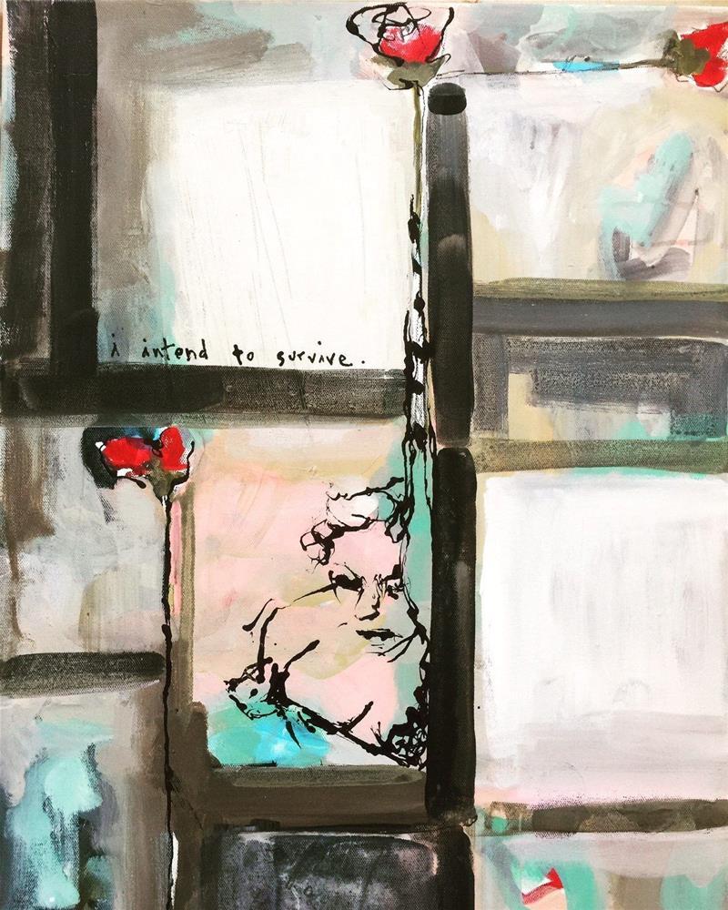 """567 I Intend to Survive"" original fine art by Jenny Doh"