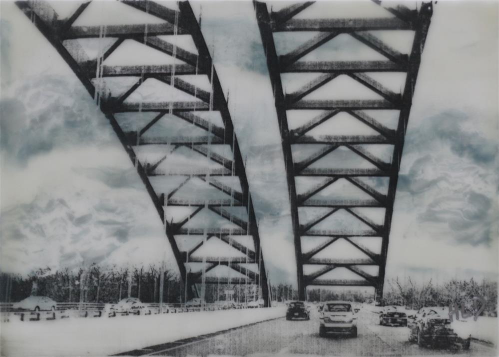 """The Twin Bridges"" original fine art by Heather Douglas"