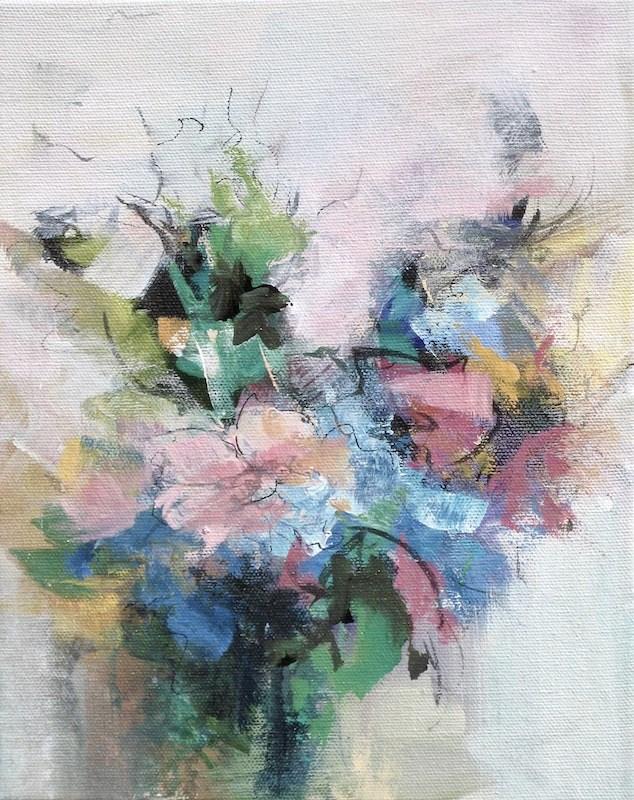 """""""Floral 7"""" original fine art by Karen Hale"""