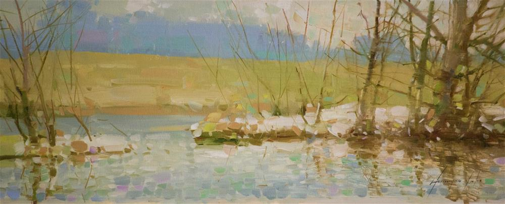 """""""Spring time Oil painting with Certificate of Authenticity"""" original fine art by V Y"""