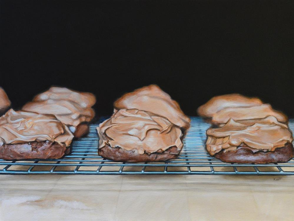 """Chocolate Cookies (Commission)"" original fine art by Kim Testone"
