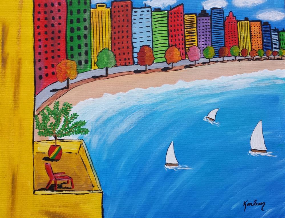 """A City View"" original fine art by Karleen Kareem"