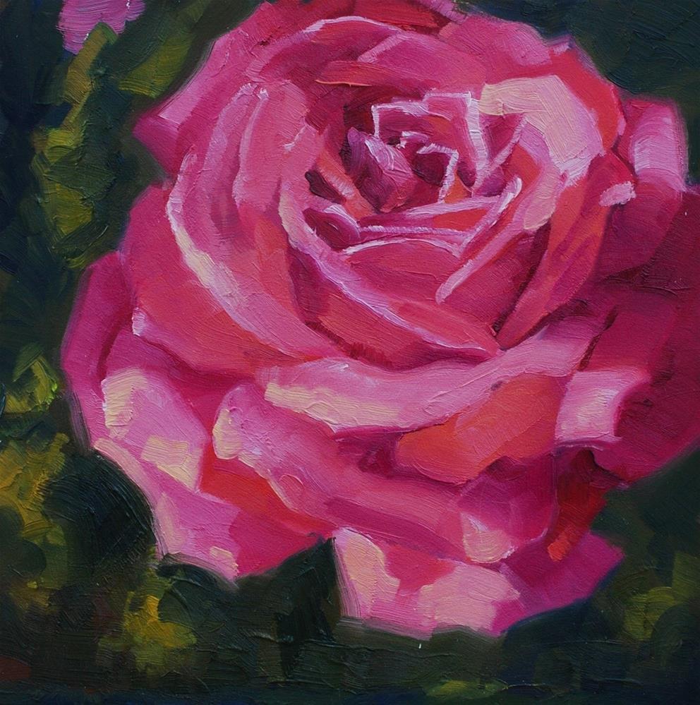 """Antique Rose"" original fine art by Susan McManamen"