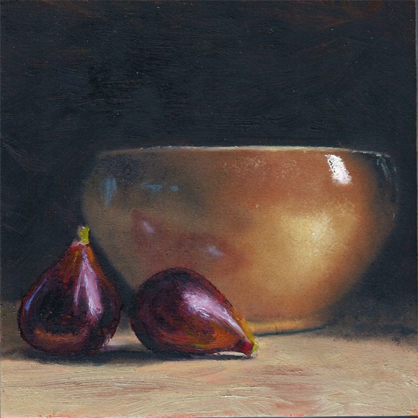 """""""Figs with earthenware bowl"""" original fine art by Peter J Sandford"""