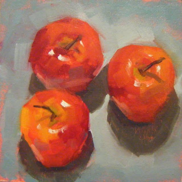 """APPLE ALERT"" original fine art by Helen Cooper"