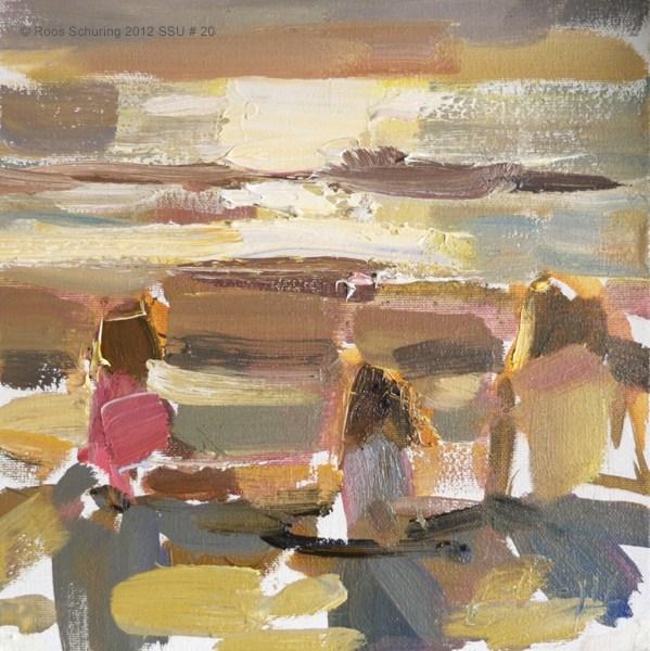 """Seascape summer # 20 Three princesses"" original fine art by Roos Schuring"