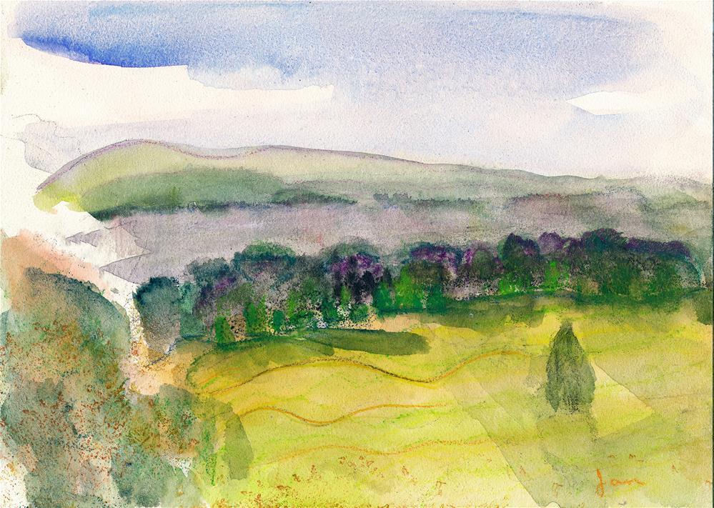 """""""View from Vanderbilt"""" original fine art by Janet Gunderson"""