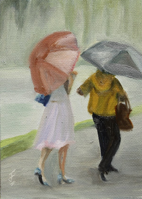 """Parkside Promenade"" original fine art by Jane Frederick"