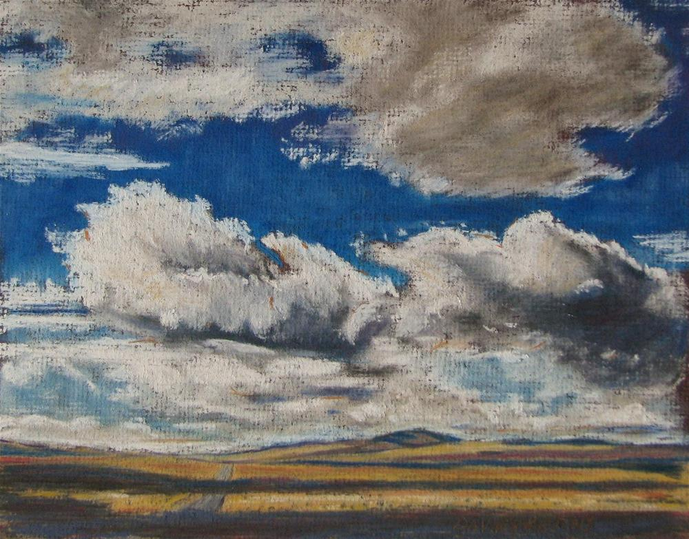 """""""south to lakeview"""" original fine art by Mary Davies Kerns"""