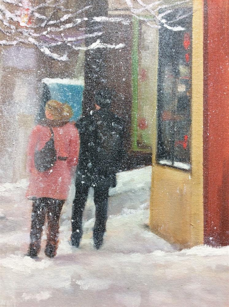 """Cold Outside"" original fine art by Peggy Schumm"