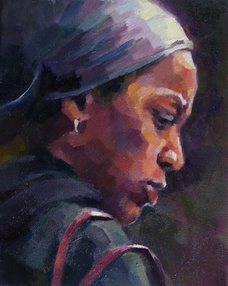 """Looking for Change"" original fine art by Katya Minkina"