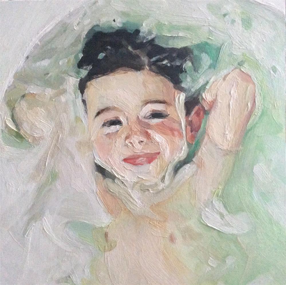 """Bath Time"" original fine art by Paula Howson-Green"