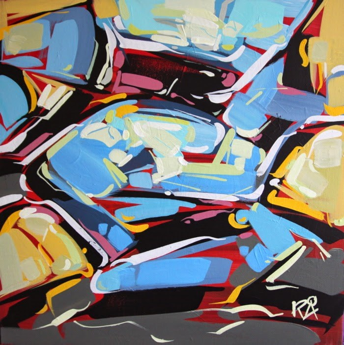 """""""Shapes & Movement 28"""" original fine art by Roger Akesson"""