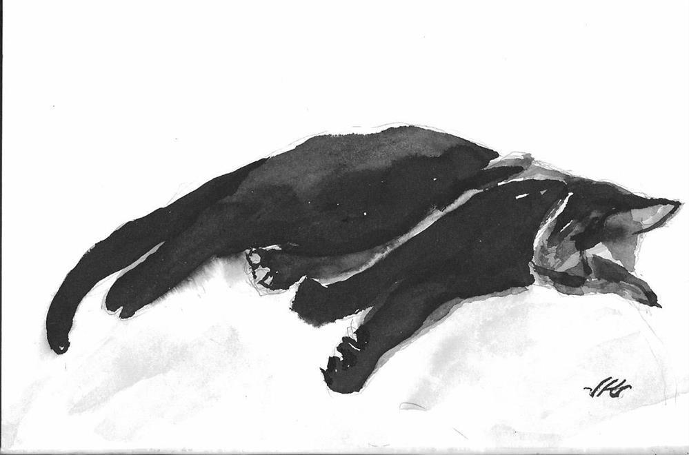 """Cat 22"" original fine art by Jean Krueger"
