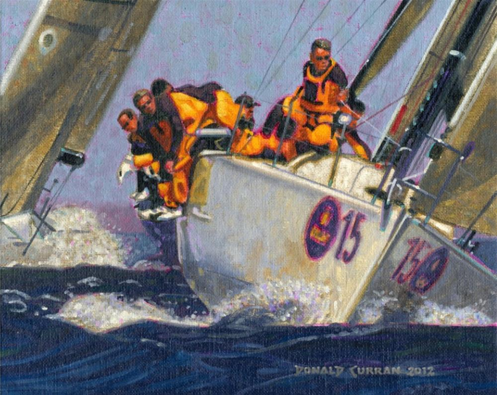 """In the Lead"" original fine art by Donald Curran"