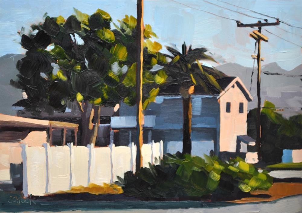 """Early Morning Carpinteria - 5x7"" original fine art by Sharon Schock"