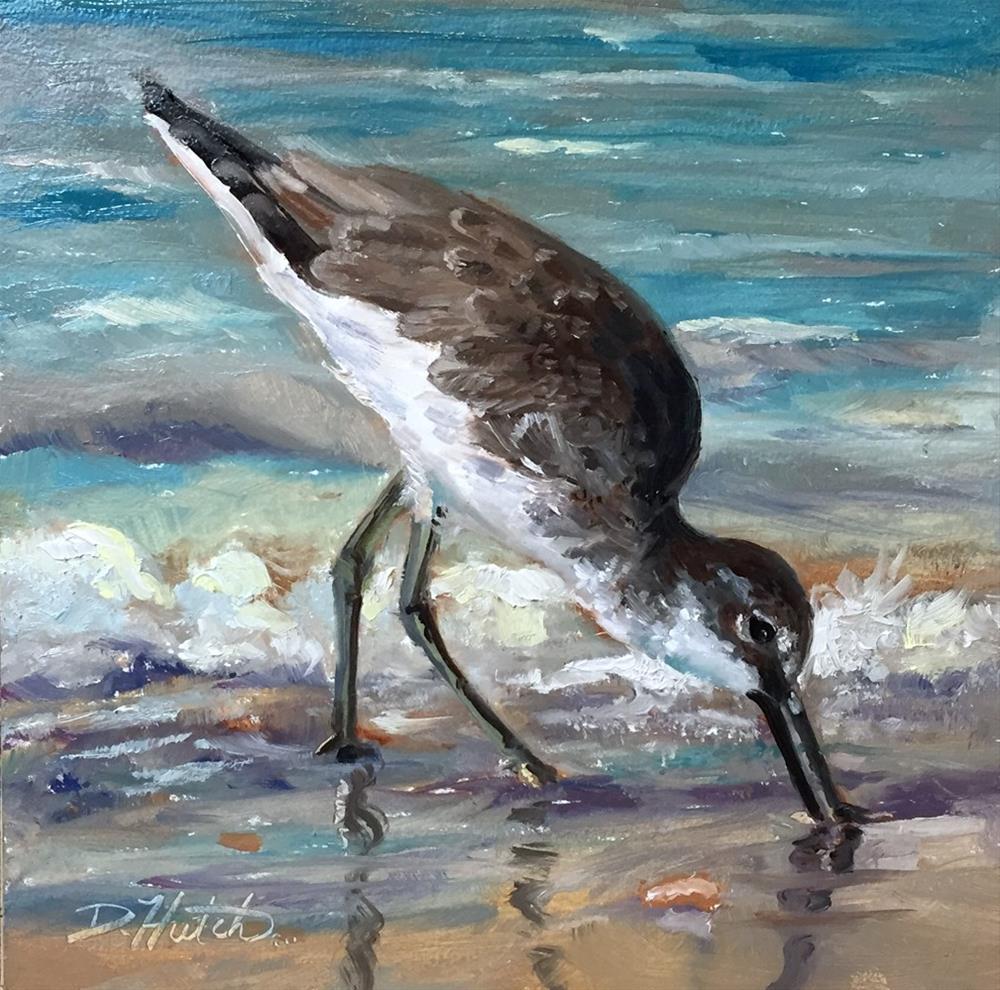"""""""Sandpiper1"""" original fine art by Diane Hutchinson"""