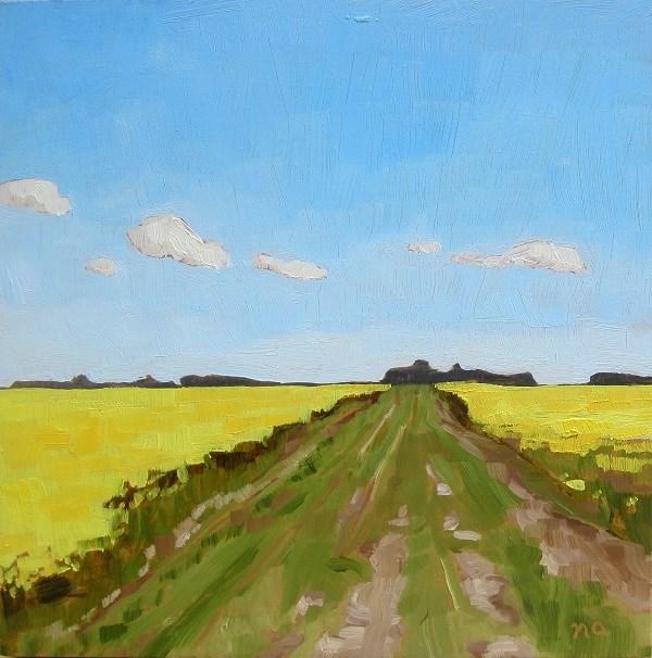 """Road Closed"" original fine art by Nicki Ault"