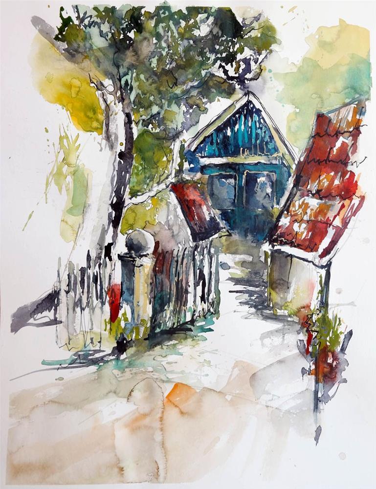 """""""1432 Beech Farm"""" original fine art by Dietmar Stiller"""