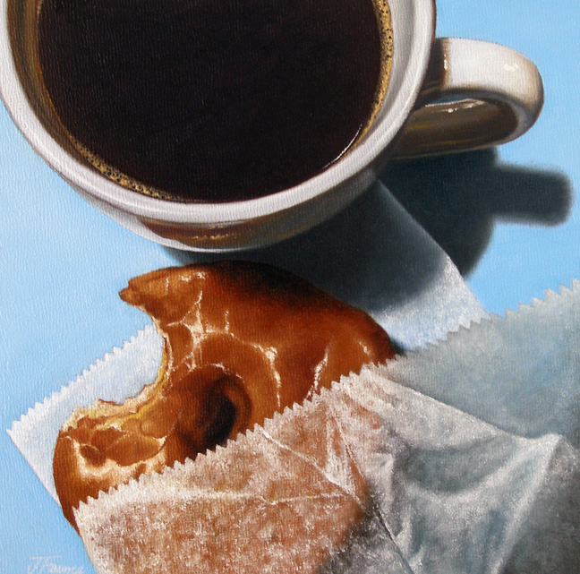 """Doughnut Study: Maple Glazed"" original fine art by Jelaine Faunce"