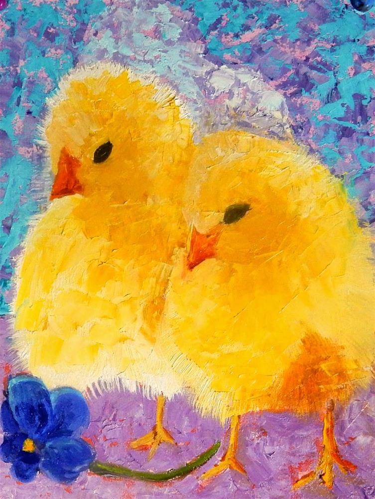 """Shall We Eat It?"" original fine art by Phyllis Davis"