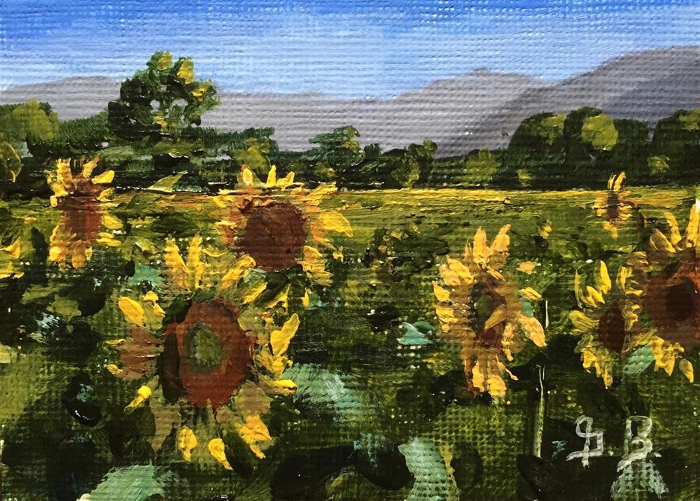 """""""Sunflower Valley"""" original fine art by Gary Bruton"""